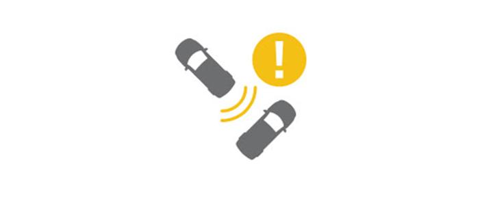 rada giúp phát hiện và cảnh báo các phương tiện di chuyển ngang phía sau hoặc từ hai bên
