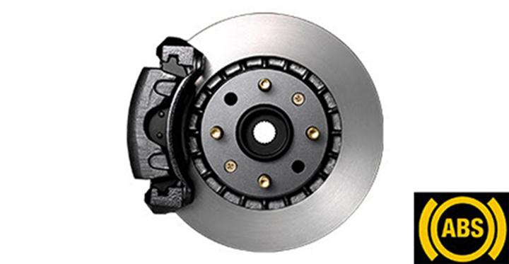 Hệ thống Chống bó cứng phanh (ABS) ngăn ngừa bánh xe bị khóa, giúp người lái kiểm soát tình huống tốt hơn khi phanh hoặc đánh lái gấp