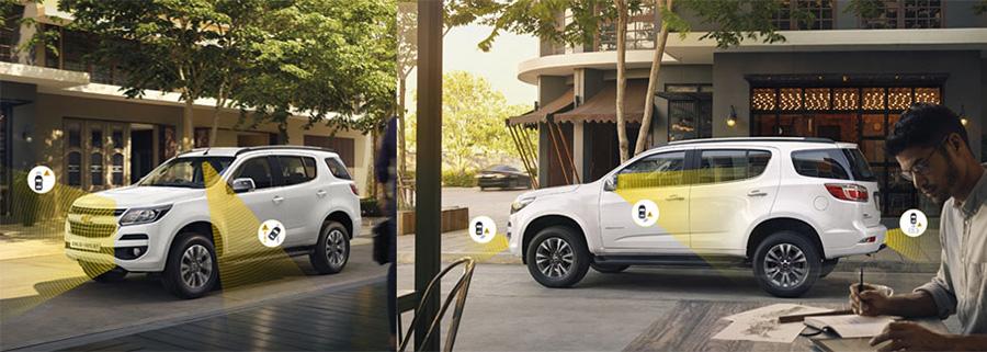 Các radar cảm ứng tại những vị trí quan trọng quanh xe để bảo vệ bạn và gia đình