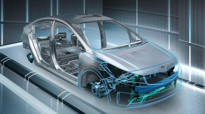 Khung xe được làm bằng thép cường lực liền khối, giúp nâng cao tính an toàn khi va chạm