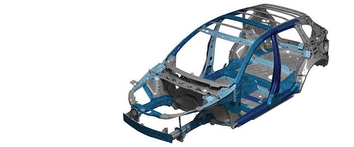 Khung sườn xe với cấu trúc hấp thụ xung lực được chế tạo bằng chất liệu đặc biệt giúp tăng khả năng chịu lực