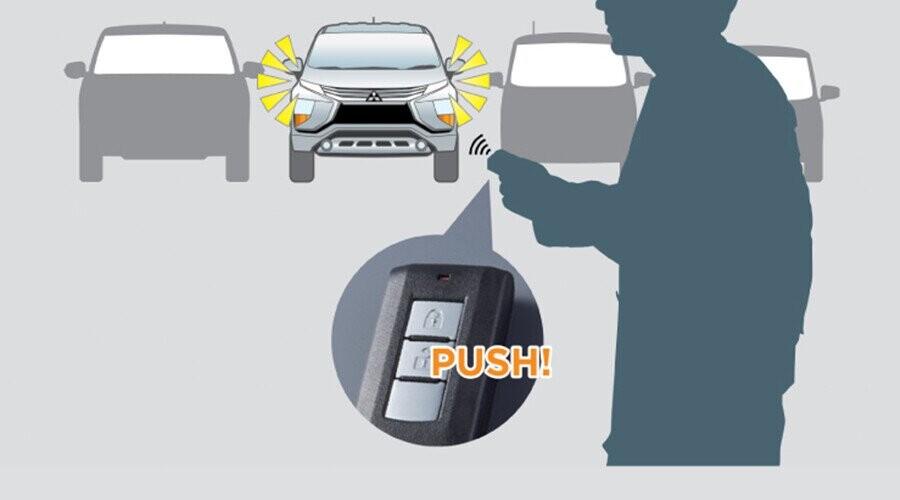Đèn định vị xe sẽ sáng 30 giây khi bấm mở khóa trên chìa
