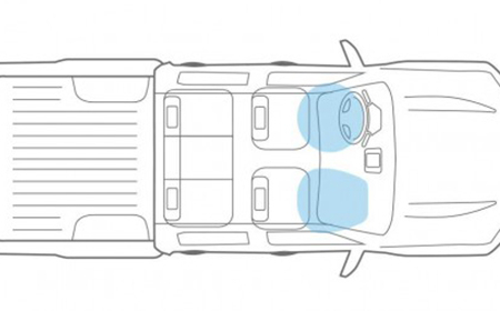Túi khí kép SRC phía trước giúp bảo vệ người lái