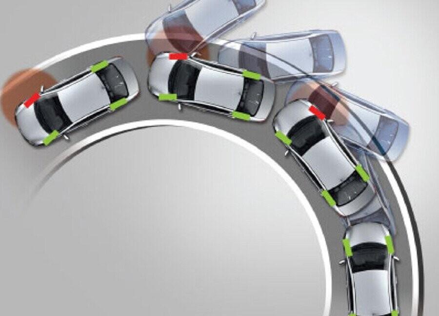 Hệ thống cân bằng điện tử ESP nhận diện khi xe bị trượt ngang hoặc mất ổn định
