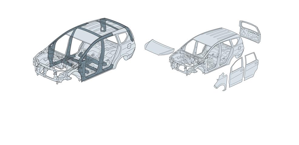 Khung xe với kết cấu GOA.
