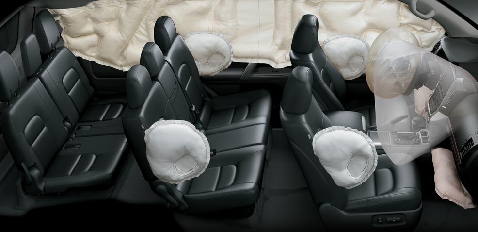 Nổi bật bên cạnh các ưu điểm về thiết kế và khả năng vận hành là tính năng an toàn của Land Cruiser.