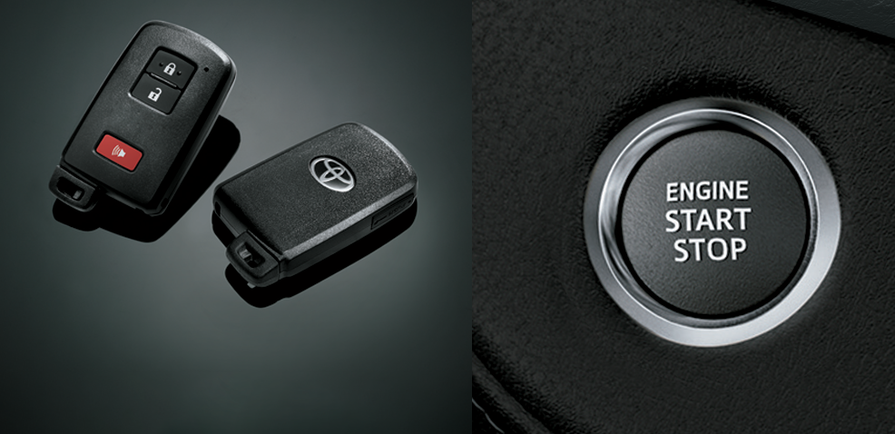 Hê thống khóa cửa thông minh và khởi động bằng nút bấm.