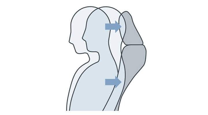 Ghế ngồi phía trước được trang bị cấu trúc giảm chấn thương