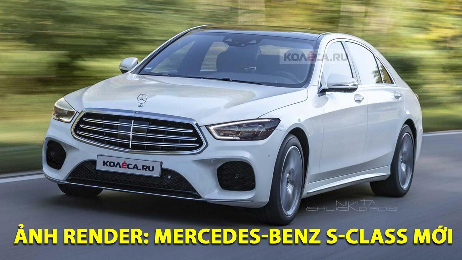 Ảnh render Mercedes-Benz S-Class thế hệ mới; đột phá về thiết kế - Hình 1