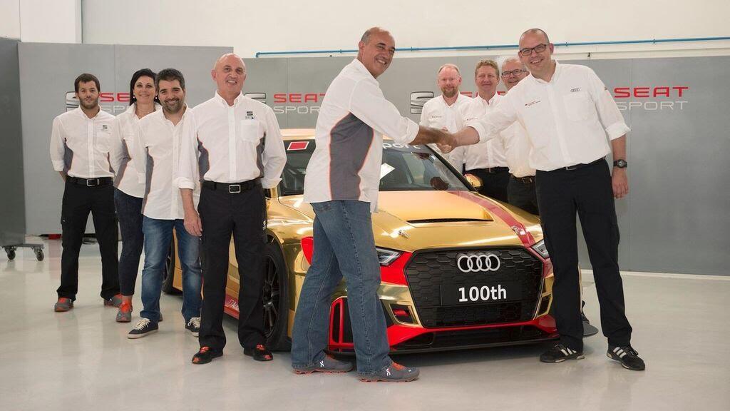 Audi gây bất ngờ với RS3 LMS thứ 100 vàng Gold - Hình 4