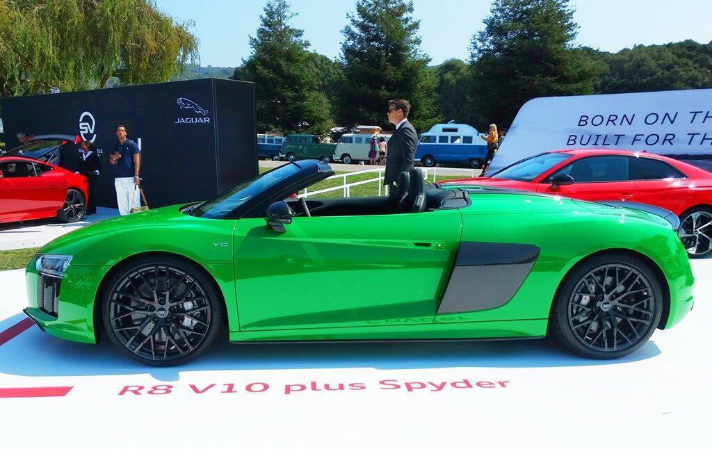 Audi R8 V10 Plus Spyder màu độc ở lễ hội siêu xe Mỹ - Hình 1