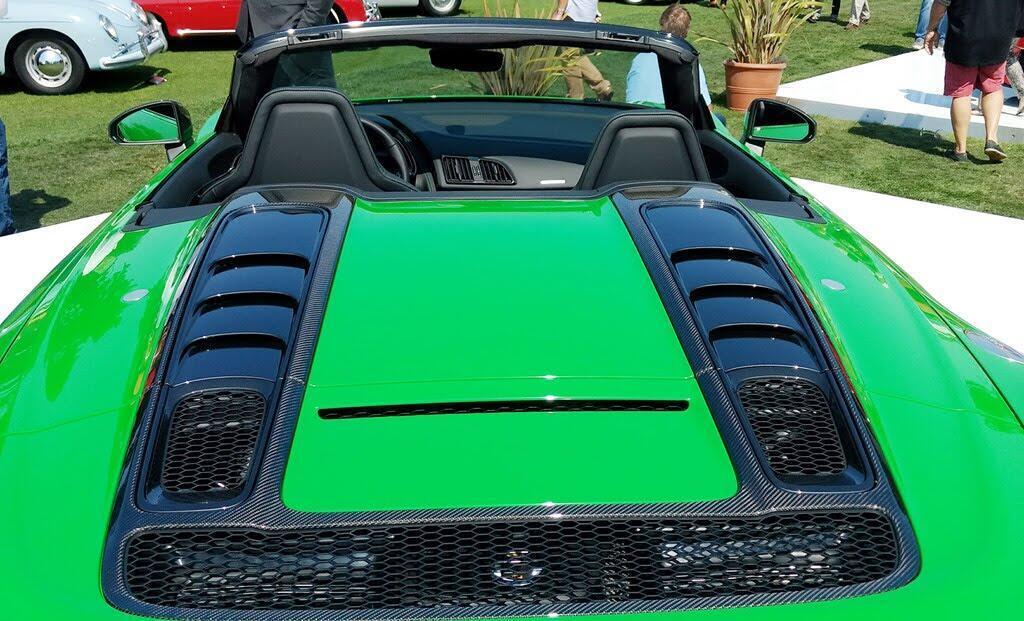 Audi R8 V10 Plus Spyder màu độc ở lễ hội siêu xe Mỹ - Hình 4