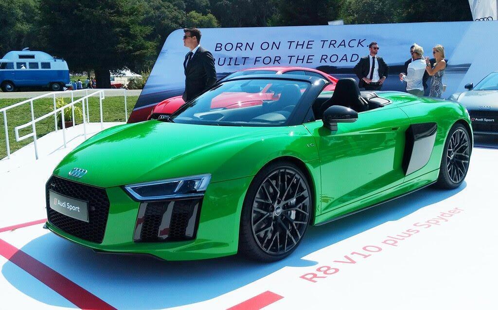 Audi R8 V10 Plus Spyder màu độc ở lễ hội siêu xe Mỹ - Hình 7