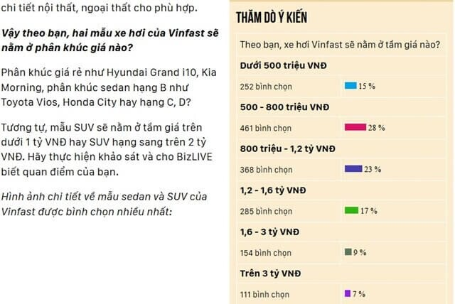Bảng giá xe VinFast - Hình 2