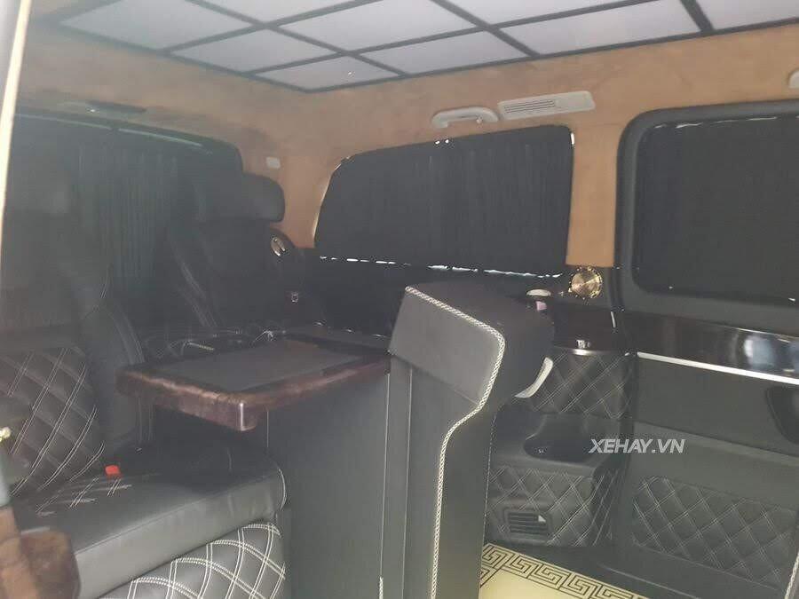 """Bắt gặp Mercedes-Benz V 250 độ """"khủng"""" của đại gia Minh Nhựa trên phố - Hình 6"""