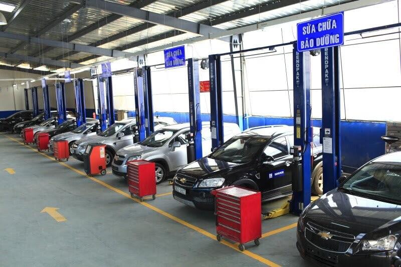 Xưởng Dịch vụ được trang bị đầy đủ và hiện đại theo tiêu chuẩn của GMV.