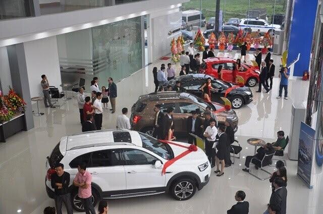 Showroom Chevrolet Thanh Hóa được thiết kế hiện đại và thân thiện.