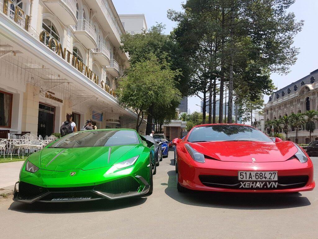 Cường Đô La và người đẹp Đàm Thu Trang tụ họp cùng dàn siêu xe Sài thành - Hình 1