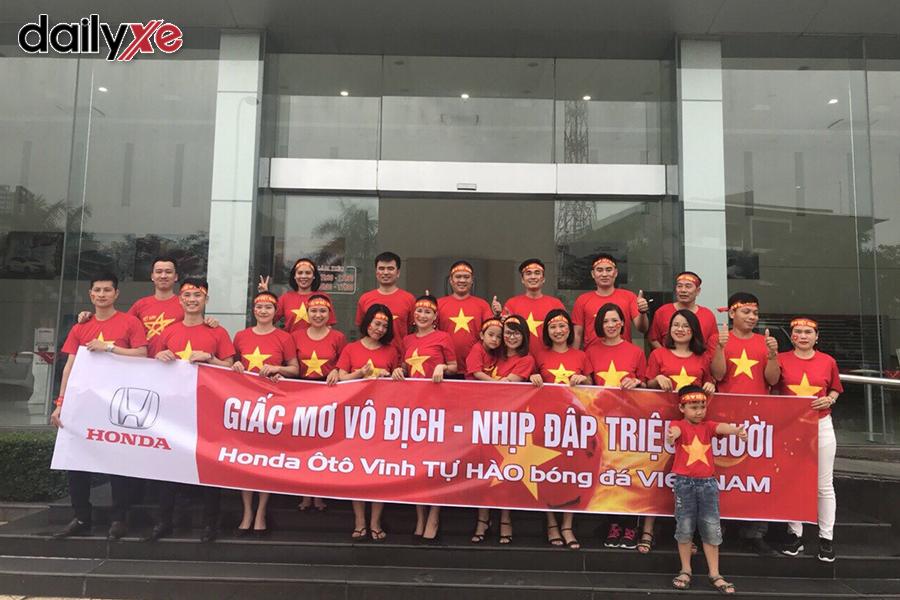 Honda Vinh đồng hành cùng đội tuyển Việt Nam
