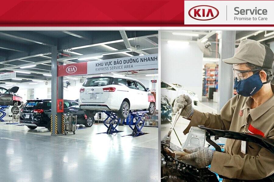 Khu vực xưởng Dịch vụ  rộng rãi & đầy đủ trang thiết bị hiện đại