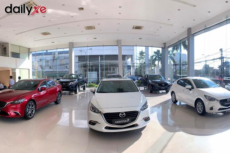 Các mẫu xe trưng bày tại Showroom