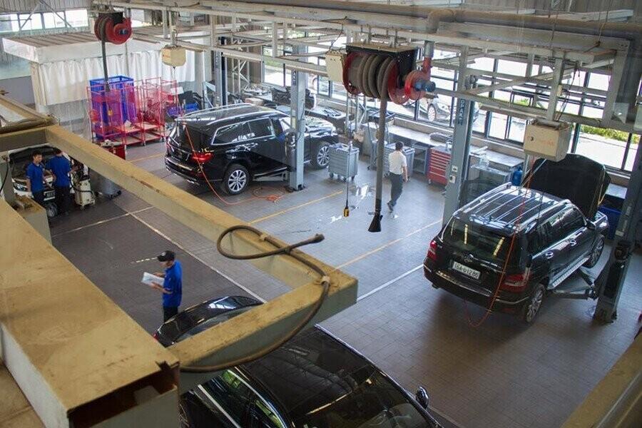 Khu vực bảo trì và sửa chữa xe