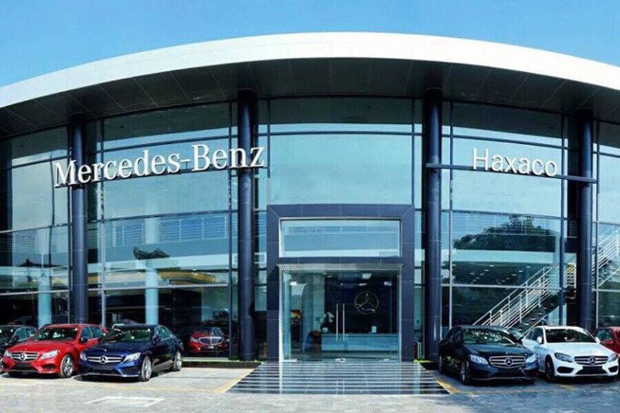 Mặt tiền showroom Mercedes Haxaco Kim Giang