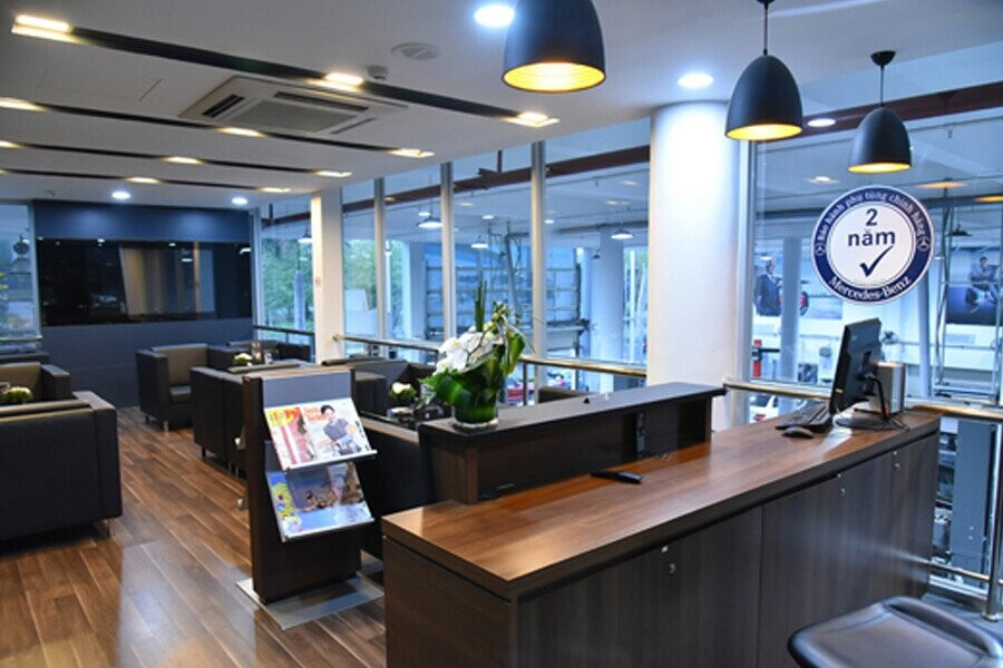 Phòng chờ dịch vụ được thiết kế hiện đại, thân thiện tiêu chuẩn 5 sao