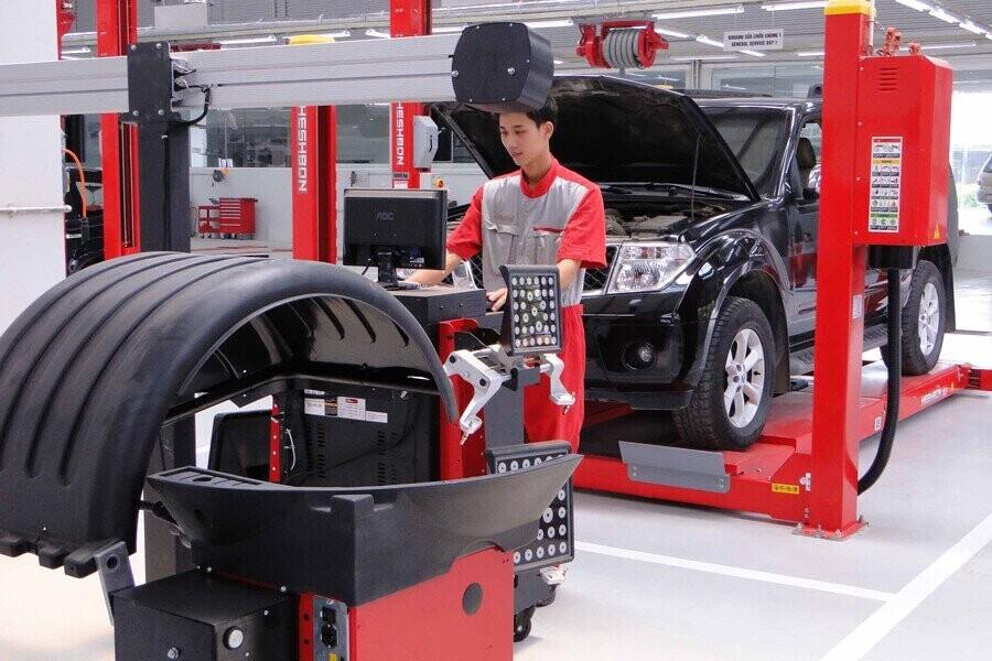 Khu vực sửa chữa và bảo trì xe
