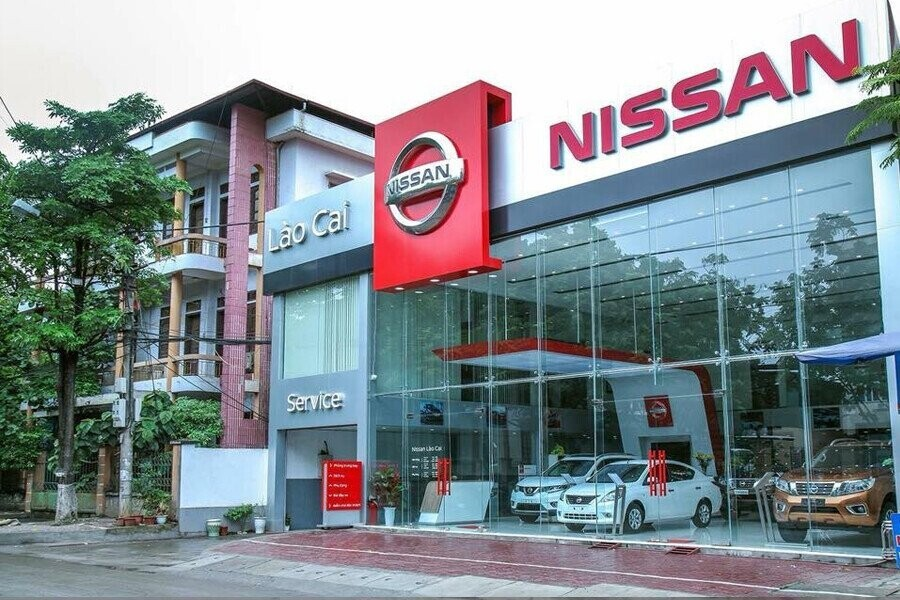 Mặt tiền Showroom Nissan Lào Cai