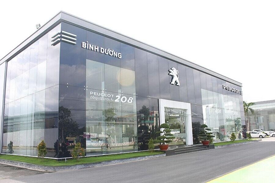 Mặt tiền Showroom Peugeot Bình Dương