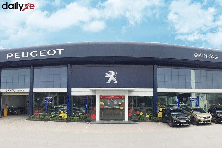 Mặt tiền đại lý Peugeot Giải Phóng