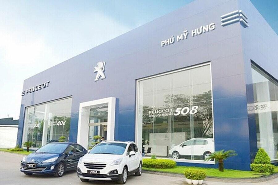 Mặt tiền Showroom Peugeot Phú Mỹ Hưng