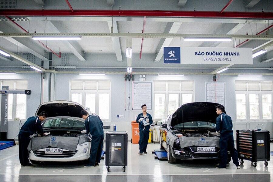 Khu vực sửa chữa và bảo hành Peugeot Thanh Xuân