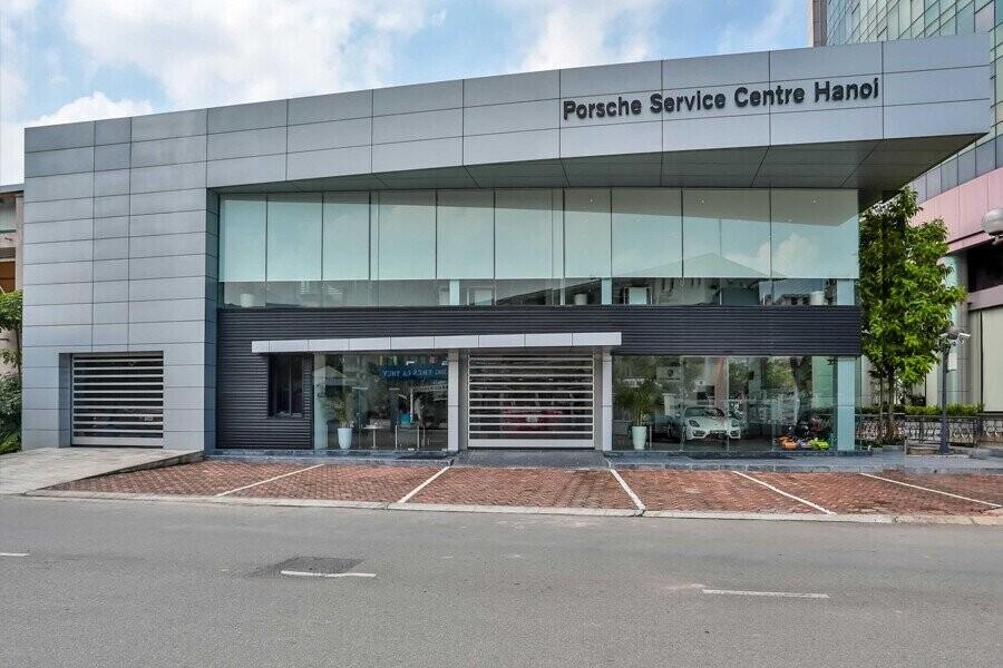 Mặt tiền Showroom Porsche Hà Nội