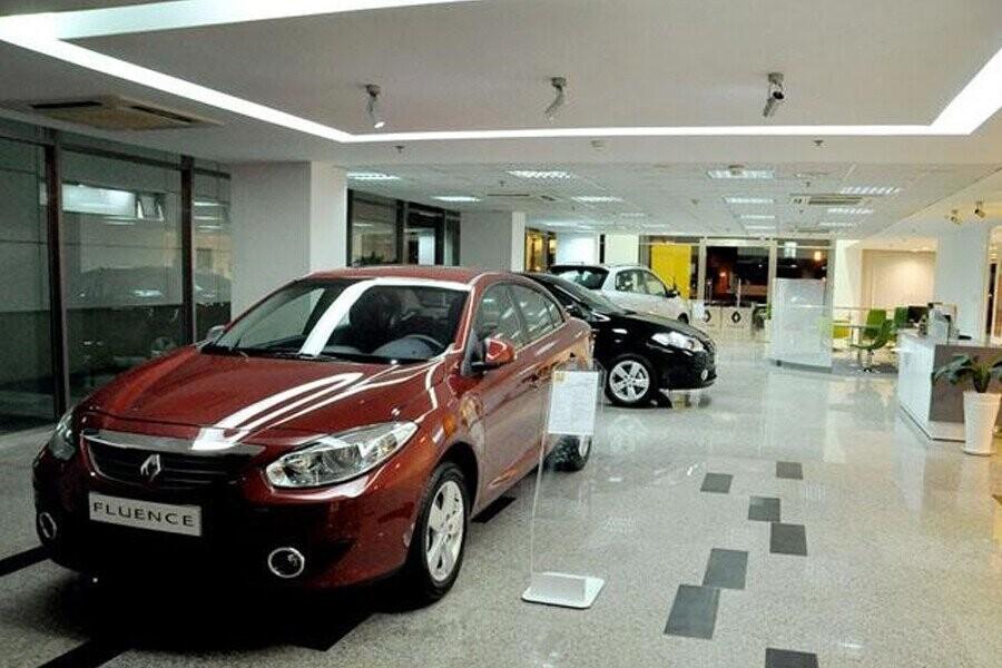 Khu vực trưng bày xe Renault