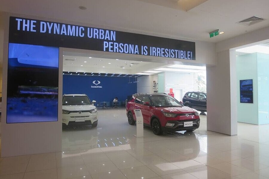 Khu vực trưng bày xe SsangYong