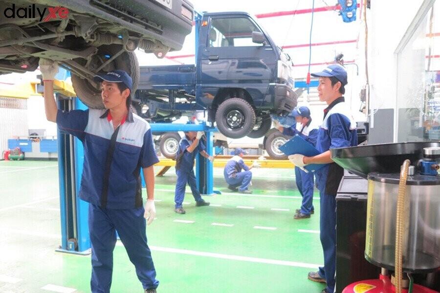 Khu vực bảo dưỡng tại Suzuki Đại Việt