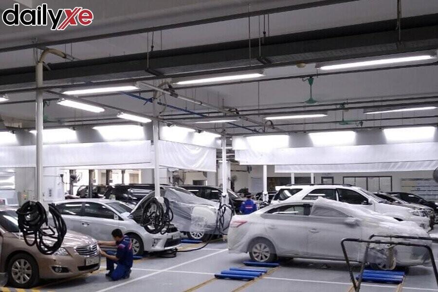 Một góc nhìn khác tại phòng bảo dưỡng xe Toyota Mỹ Đình