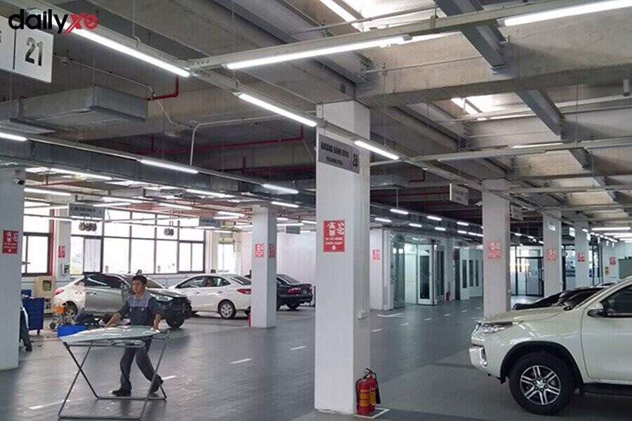 Khu vực bảo dưỡng tại Toyota Thái Hòa Từ Liêm - Hình 1