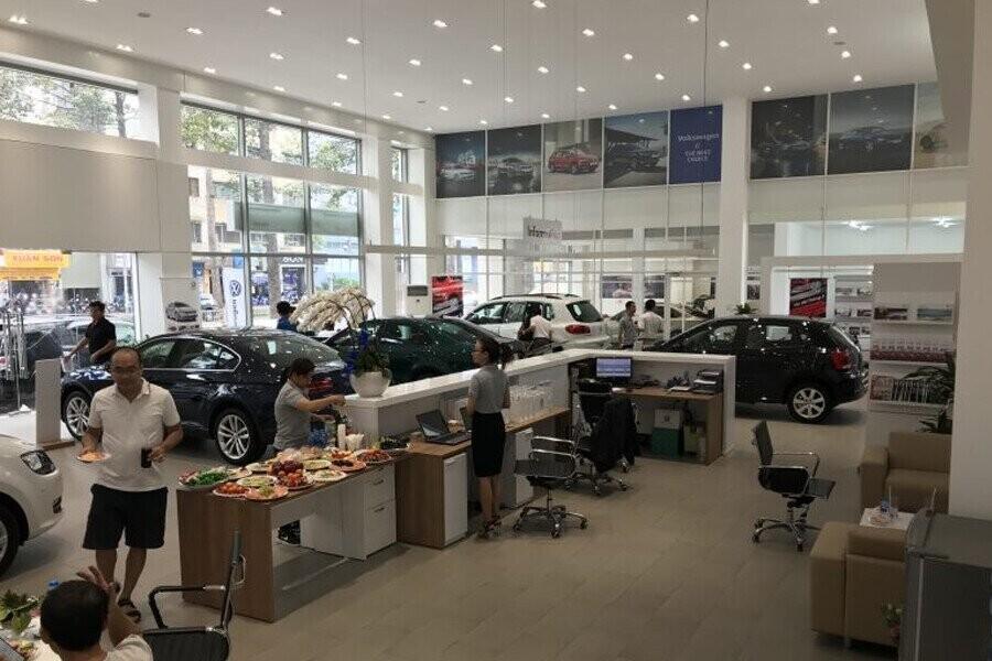 Khu vực trưng bày xe Volkswagen