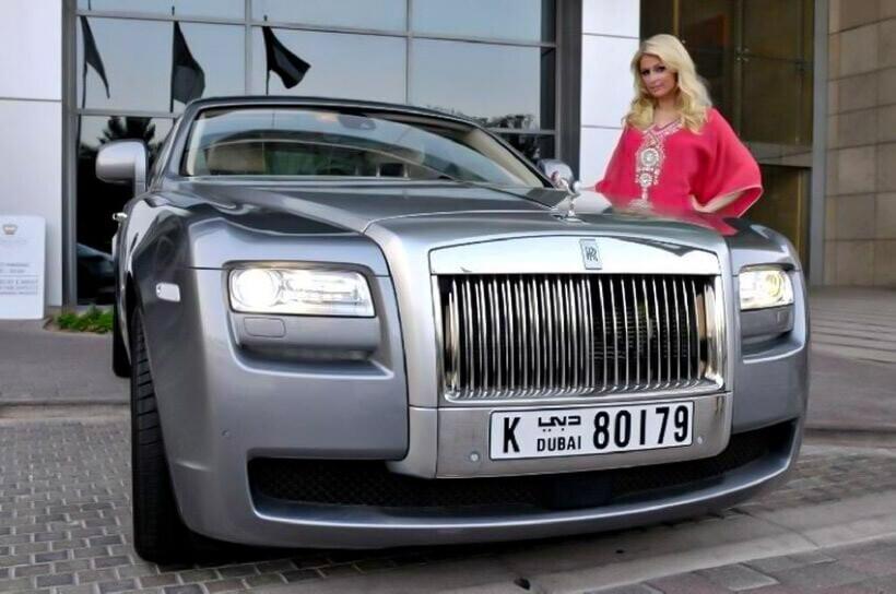 Dan sao nu Hollywood va thu vui so huu nhung sieu xe dat tien hinh anh 14 Paris_Hilton_Rolls_Royce_Ghost_2.jpg