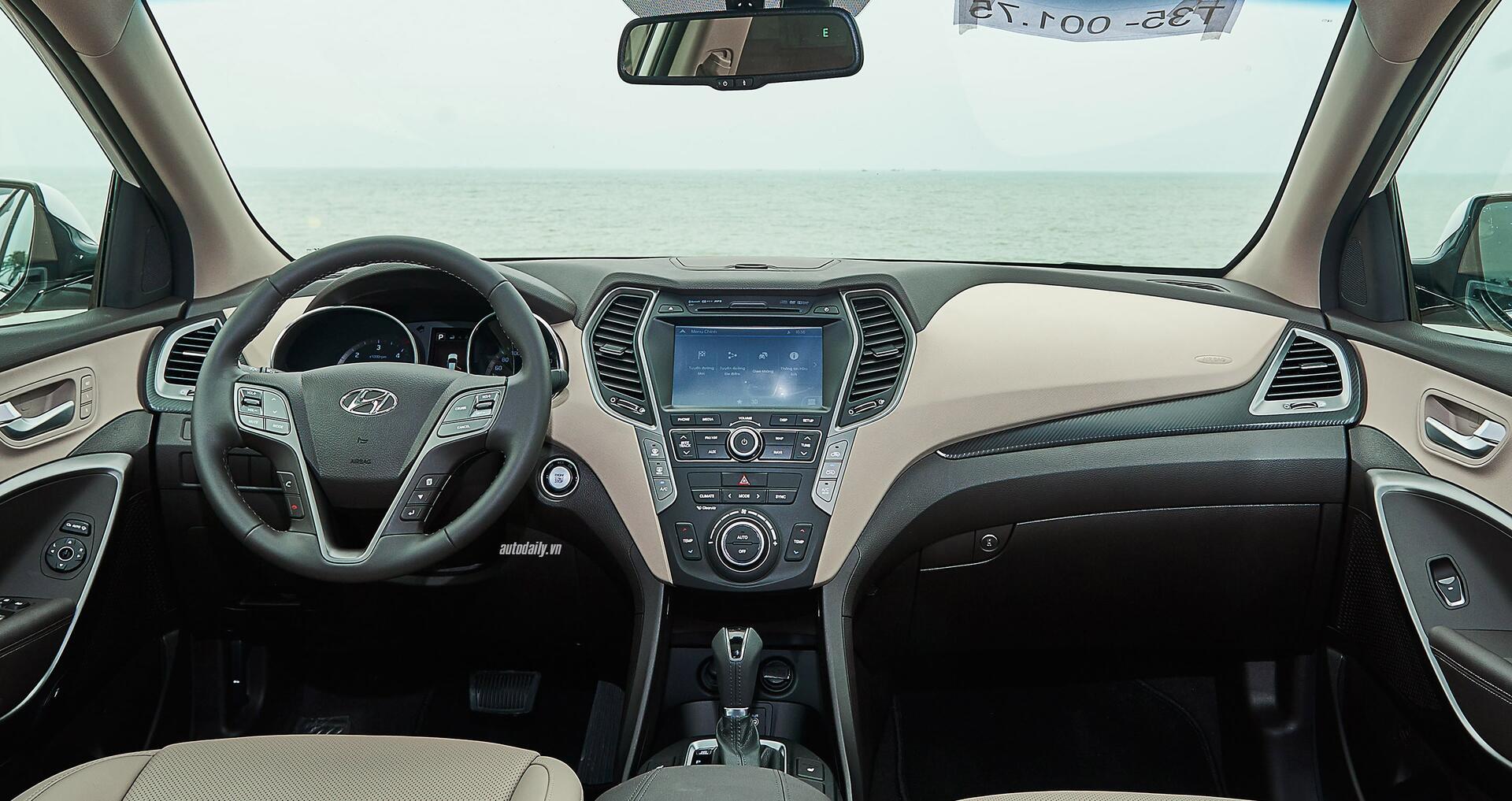 Đánh giá ban đầu về Hyundai SantaFe 2016 phiên bản máy dầu - Hình 5