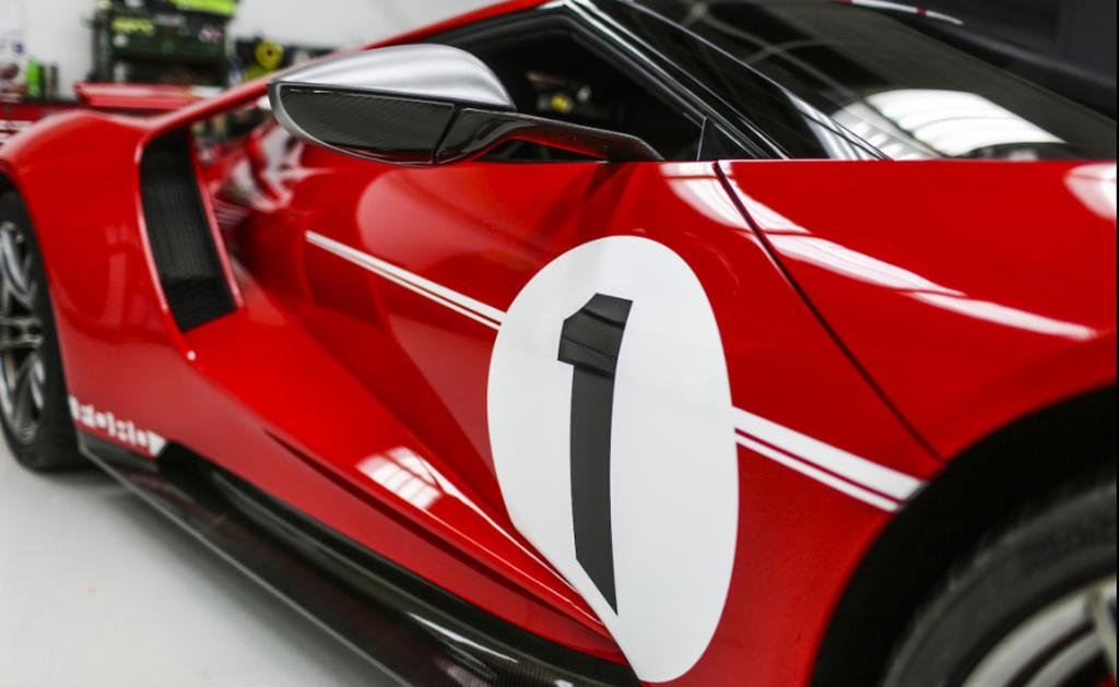 Ford GT Heritage 2018 được sản xuất để vinh danh người chiến thắng Le Mans 1967 - Hình 3
