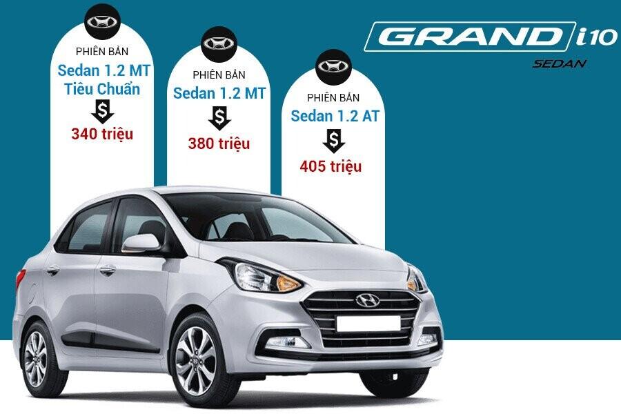 Giá xe Hyundai Grand i10 Sedan tại thị trường VIệt Nam