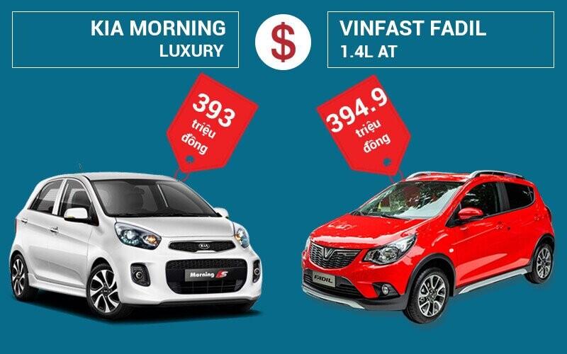 Giá xe KIA Morning và Vinfast Fadil