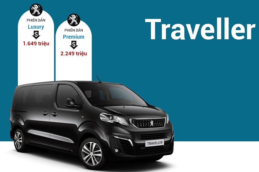 Giá xe Peugeot Traveller tại thị trường Việt Nam