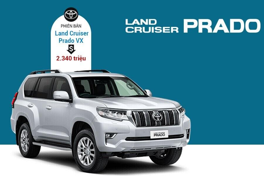 Giá xe Toyota Land Cruiser Prado VX tại thị trường Việt Nam