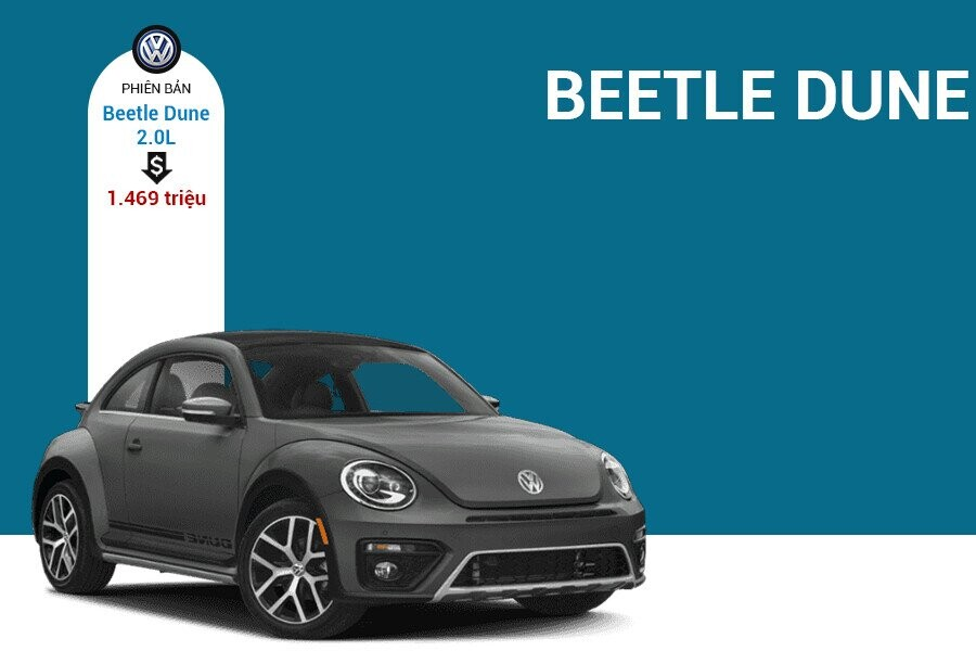 Giá xe Volkswagen Beetle Dune tại thị trường Việt Nam