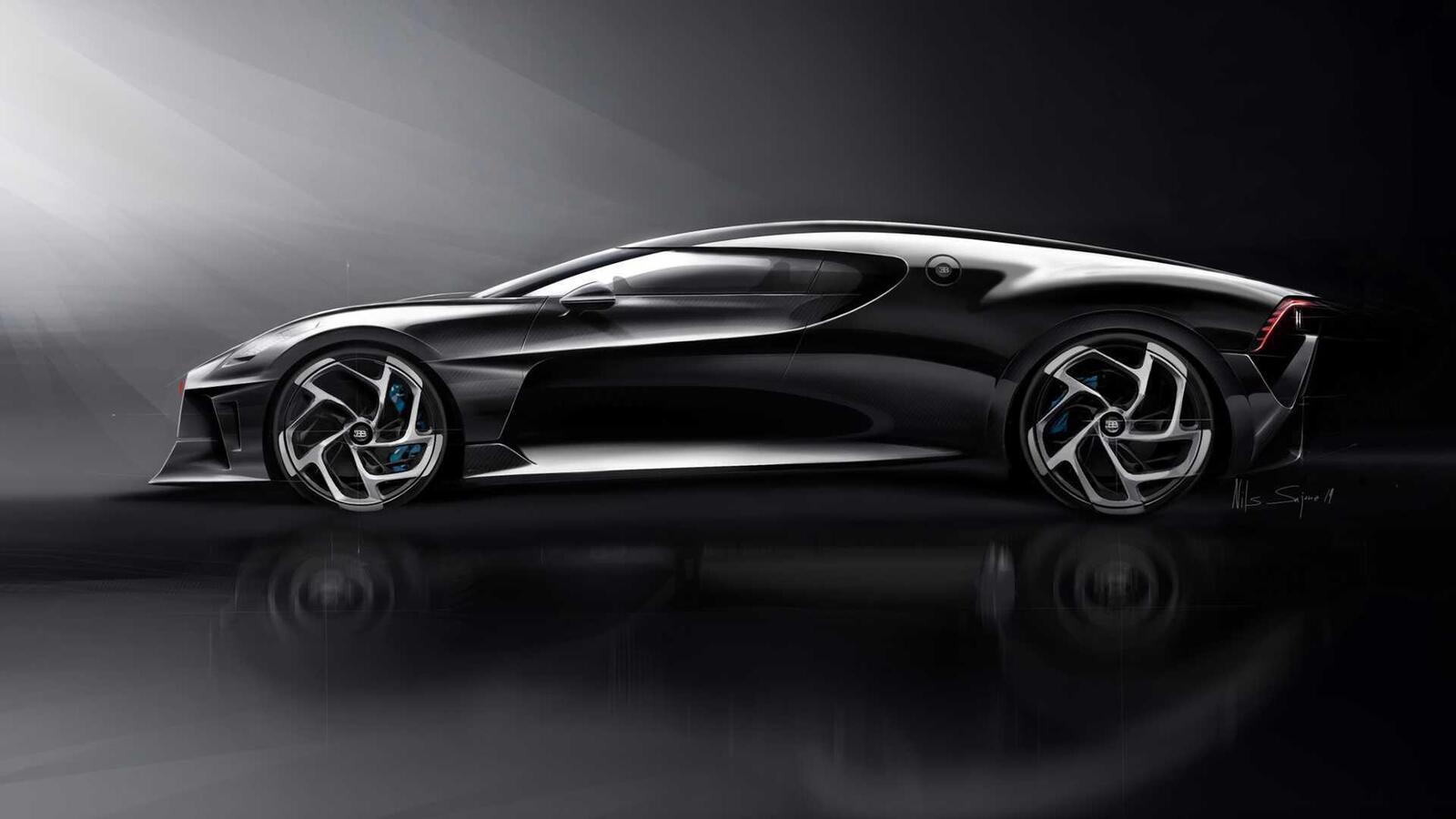 [GMS2019] Siêu phẩm Bugatti La Voatio Noire ra mắt: Chỉ một chiếc được sản xuất; giá hơn 259 tỷ đồng - Hình 8